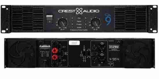 Giao diện trước và sau của main cong suat hay karaoke crest audio ca9