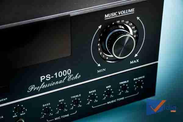 Góc điều khiển Music Volume của Amply Karaoke ProSing PS-1000