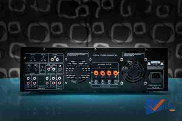 Các cổng kết nối Amply Karaoke ProSing PS-1000