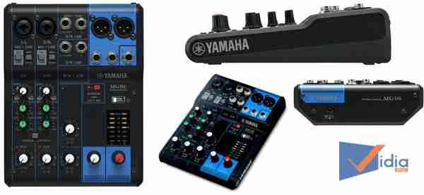 Các mặt của Mixer âm thanh YamahaMG06