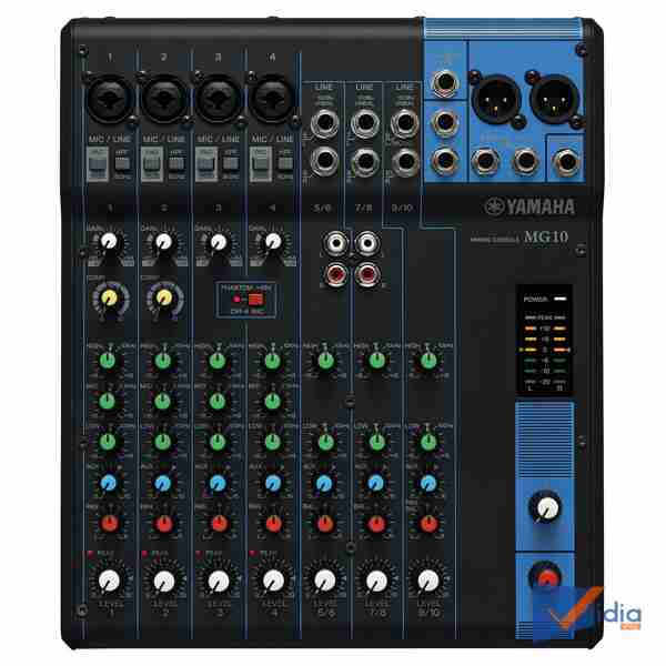 Giao diện chính Mixer Karaoke YamahaMG10