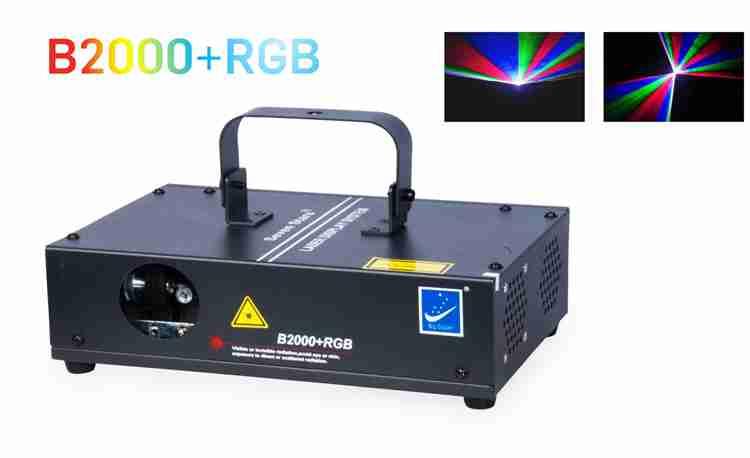 đèn laser 7 màu B2000 RGB