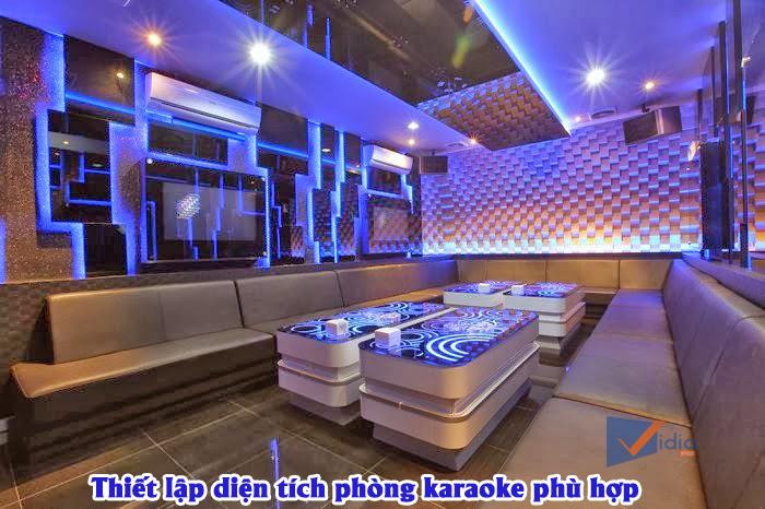Diện tích phòng karaoke phù hợp