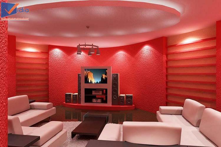 Trang trí phòng karaoke gia đình