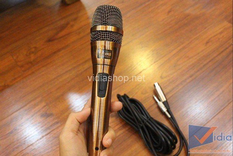 Micro dây Shupu 8.2 của dàn karaoke gia đình 10 triệu