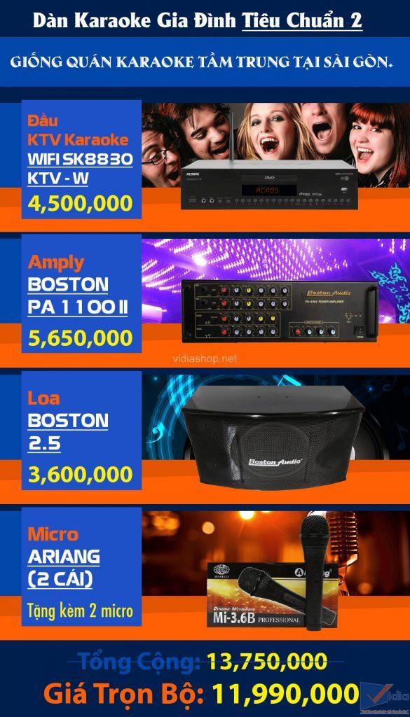 Bảng giá dàn karaoke gia đình 10 triệu