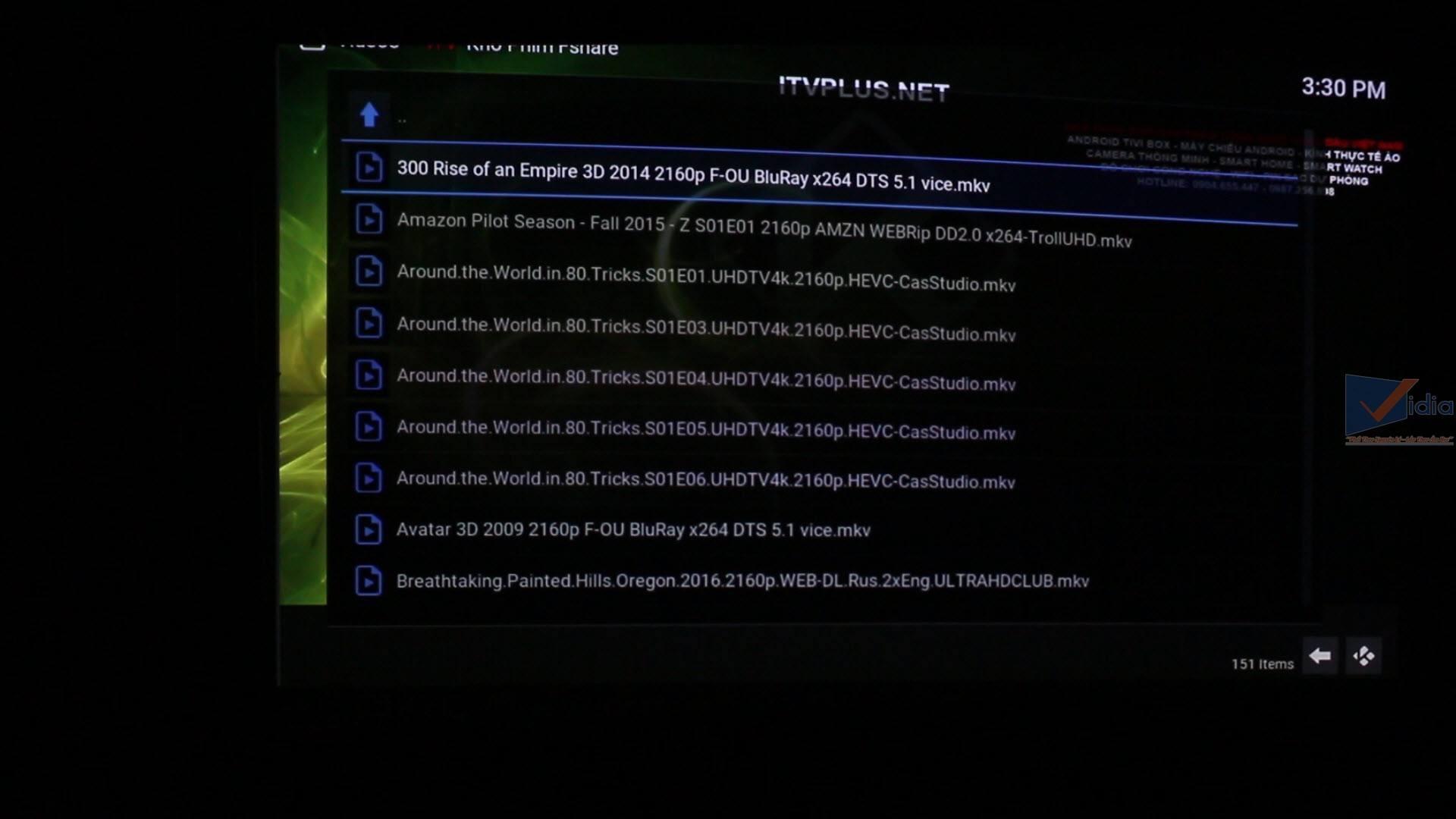 kho phim chất lượng cao như 4K Ultra HD, phim 3D, các phim Việt Nam