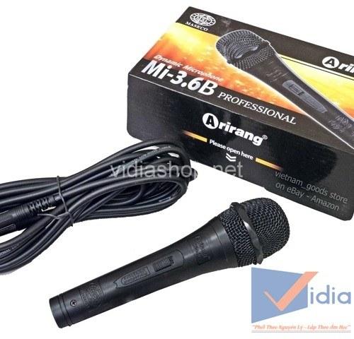 micro arirang Mi 3.6B phù hợp với dàn karaoke gia đình triệu