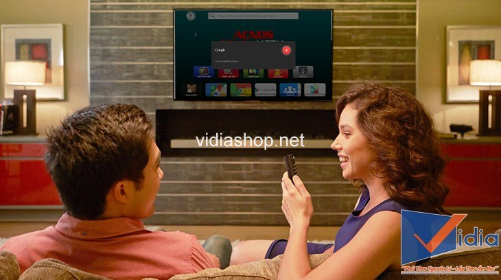tìm bài hát qua giọng nói bằng remote control
