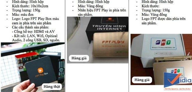 Phân biệt thiết bị FPT Play Box hàng thật và hàng giả