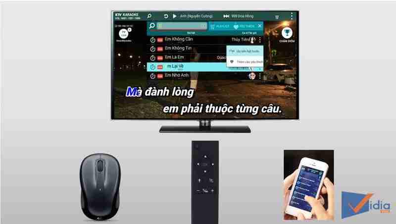 Đầu karaoke Acnos KM6 với hình thức điều khiển đa dạng