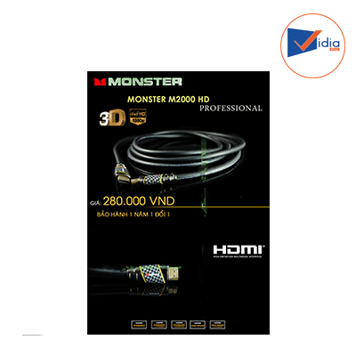Cap Hdmi Monster 2000 1.4 3D