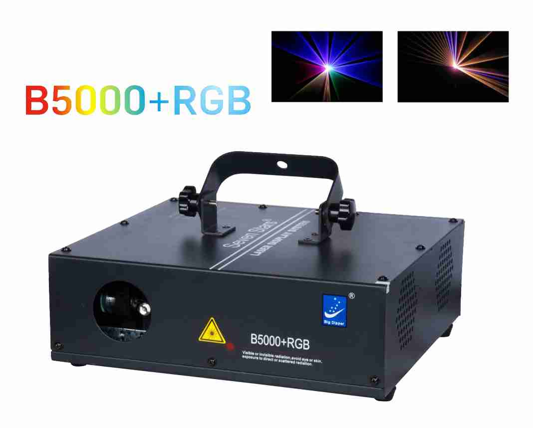 Đèn Laser B5000 RGB 1 Cửa 7 Màu
