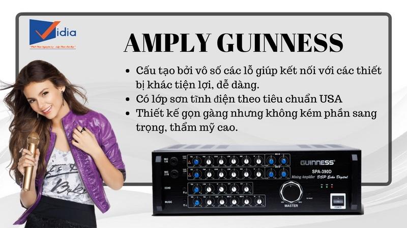 đặc điểm của amply Guinness