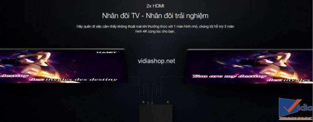 2x HDMI Nhân đôi TV - Nhân đôi trải nghiệm