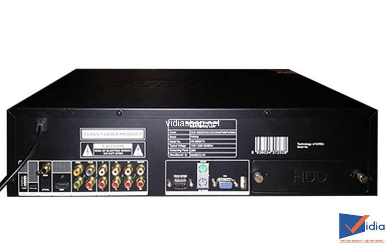 Mặt sau Đầu karaoke Arirang AR 3600KTV