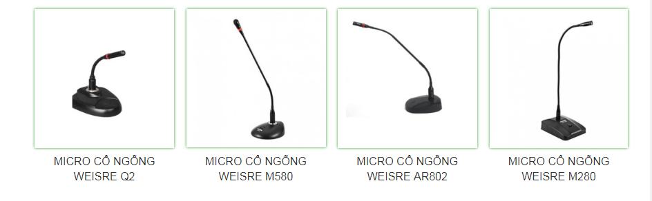 Một số thương hiệu Micro cổ ngỗng hội nghị chất lượng nhất - phần 1