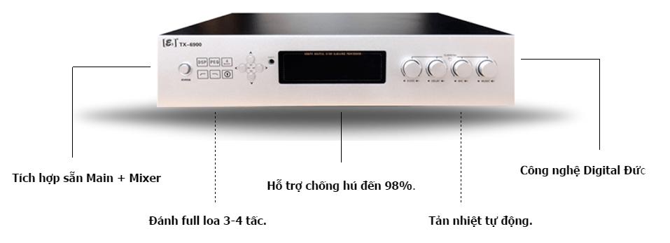 E3 TX6900 - AMPLY KARAOKE CAO CẤP BÁN CHẠY - 222688