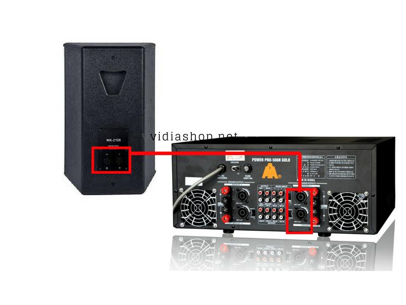 Kết nối Loa karaoke Card MK2106 với amply
