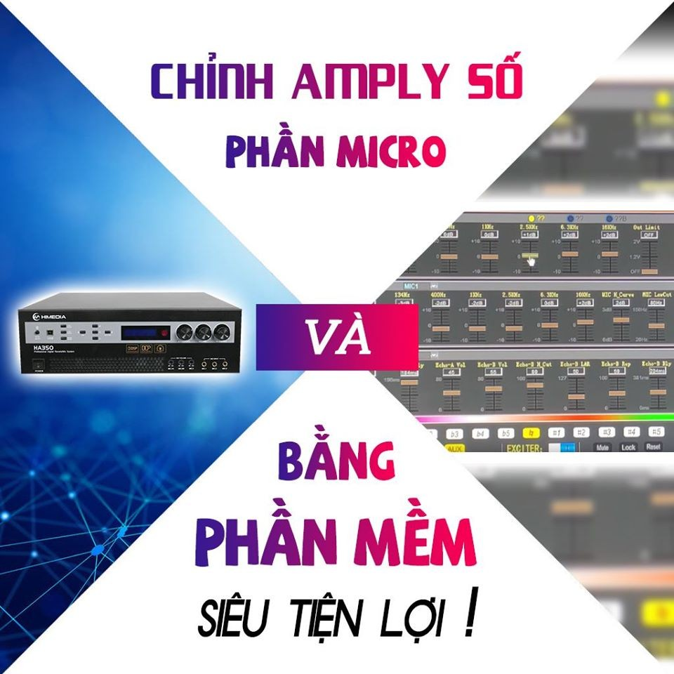 Chỉnh Amply Karaoke Số Trên Himedia HA350 Bằng Phần Mềm Đơn Giản Nhất (Phần Micro)