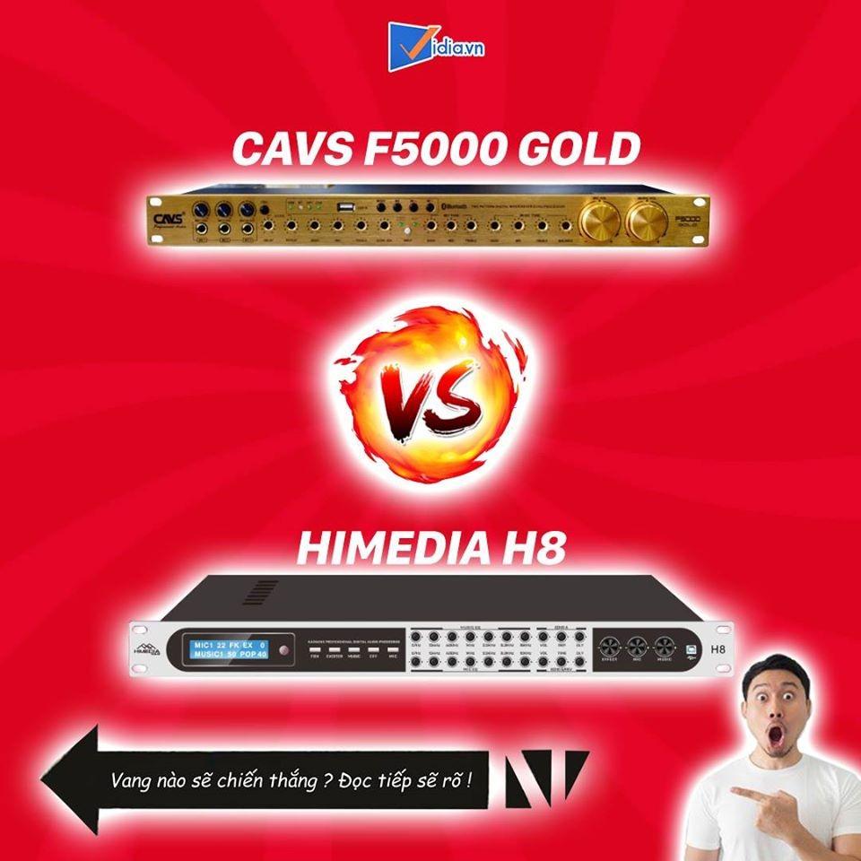 So Sánh Vang Cơ Giá Rẻ CAVS F5000 Gold Và Vang Số Chỉnh Cơ Himedia H8